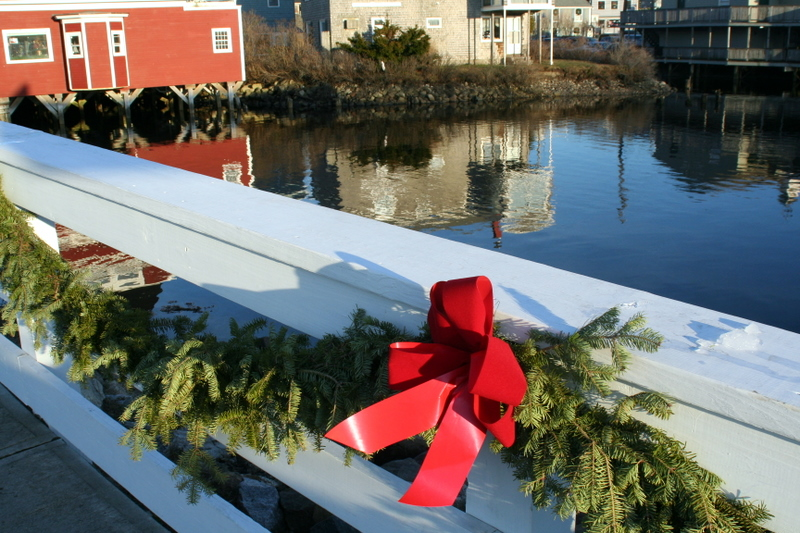 Even the bridges get decorated for Kennebunkport's Christmas