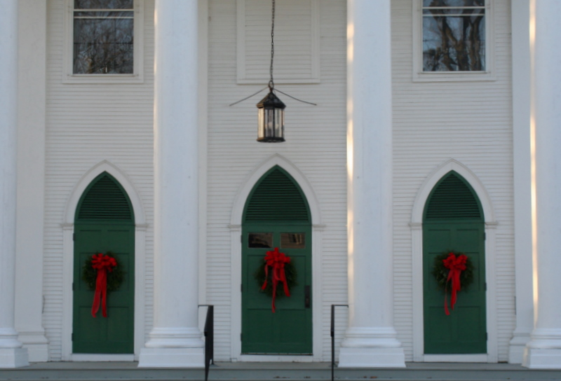 Church doors in Kennebunkport...