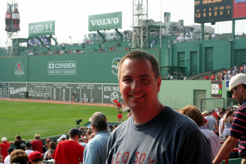 Took my brother Matt to his first Sox game yesterday... He's led a deprived life...