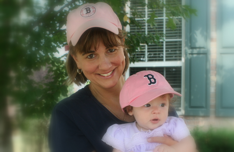 Sox girls...  me and my niece Emma...