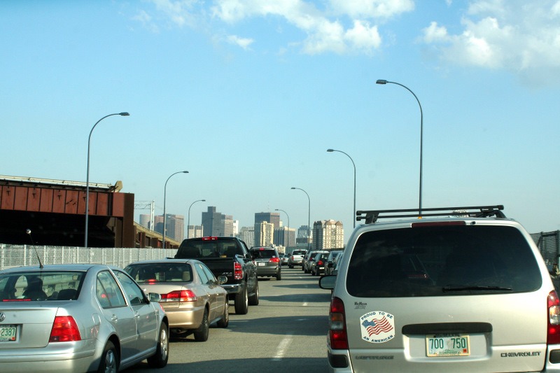 Love going to Boston for a Sox game, but HATE the traffic...