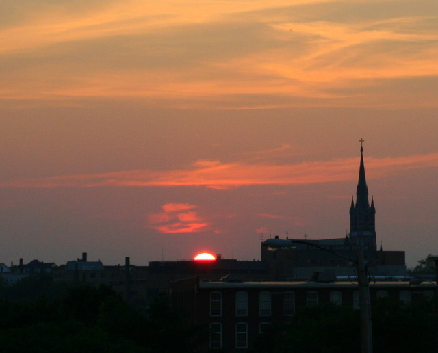 Sunset... taken from Center of NH parking garage last week
