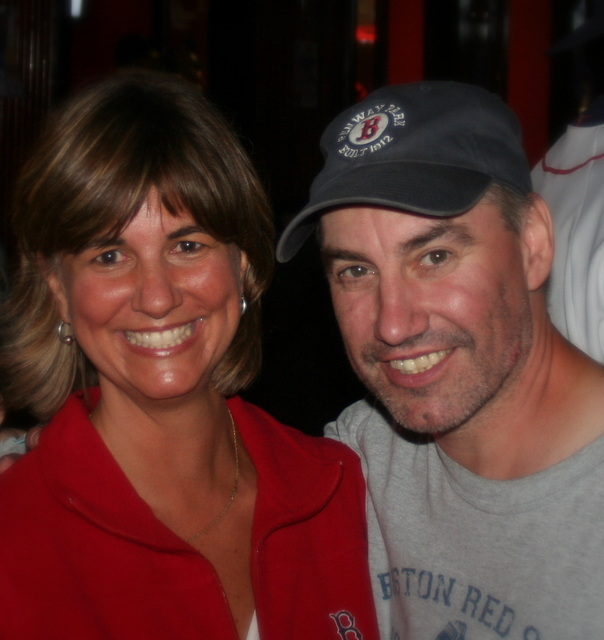 My cousin Dan and I after Saturday's Sox game...