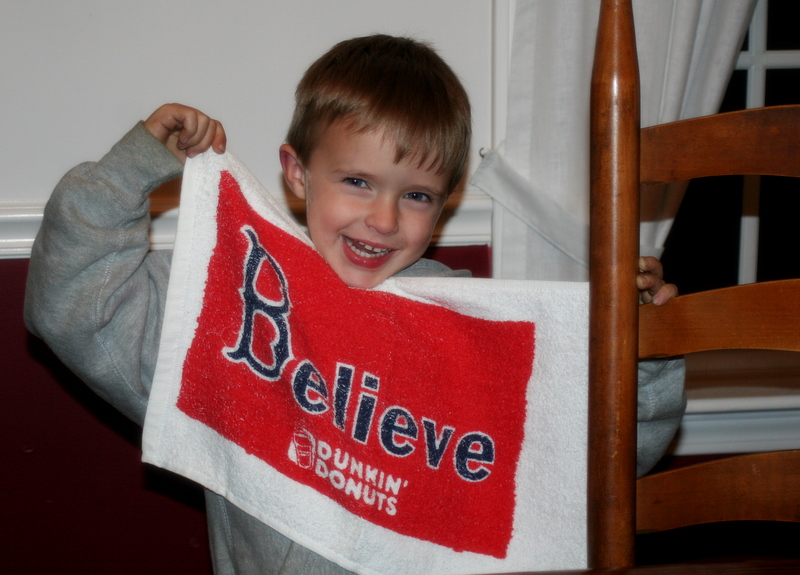 ALCS here we come!!!   I believe... and so does my little neighbor buddy Tommy...