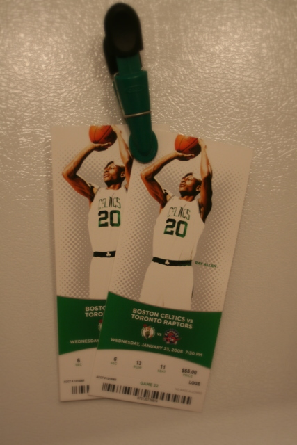 Coveted Celtics tickets for next Wednesday!