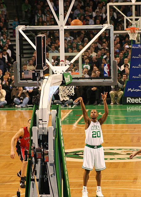 Ray Allen and his perfect foul shot form...