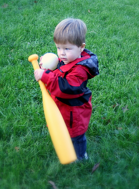 The next Big Papi?  Jack's ready for Spring Training...