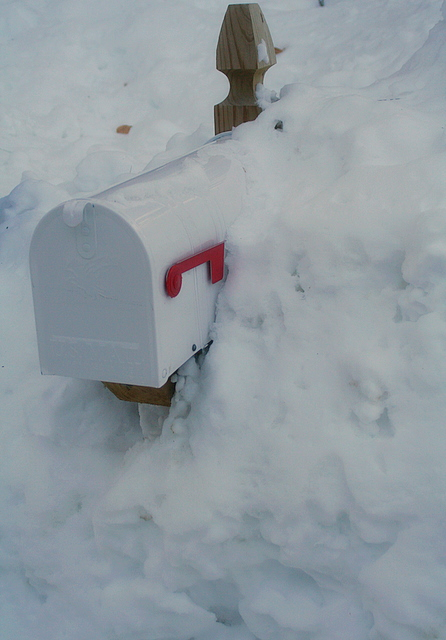 Wouldn't want to be a mail carrier with all the snow these days...