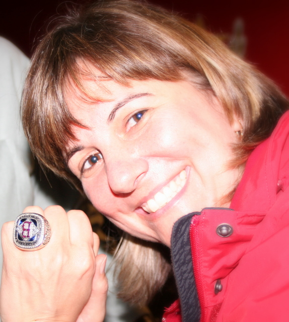 Me sporting a 2004 World Series ring at cousin Mookie's birthday party on Saturday...