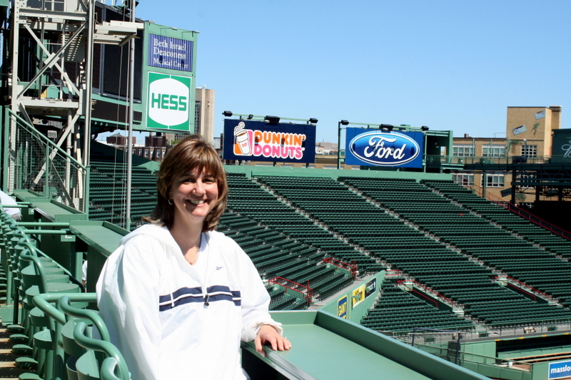 Soaking in the quiet of Fenway Park high atop the Green Monster.  Took the Fenway tour over the weekend...