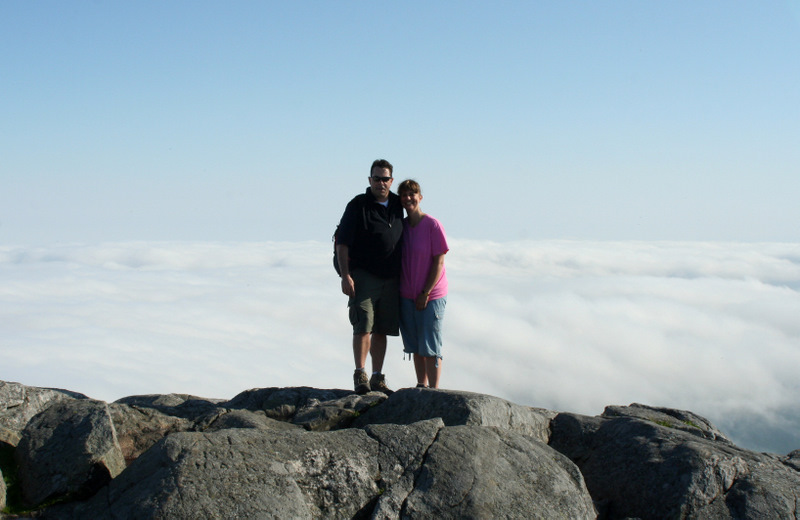 Above the clouds at the summit of Mt. Monadnock yesterday...