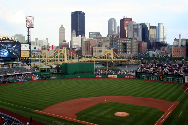 View from our seats at PNC Park Friday night...