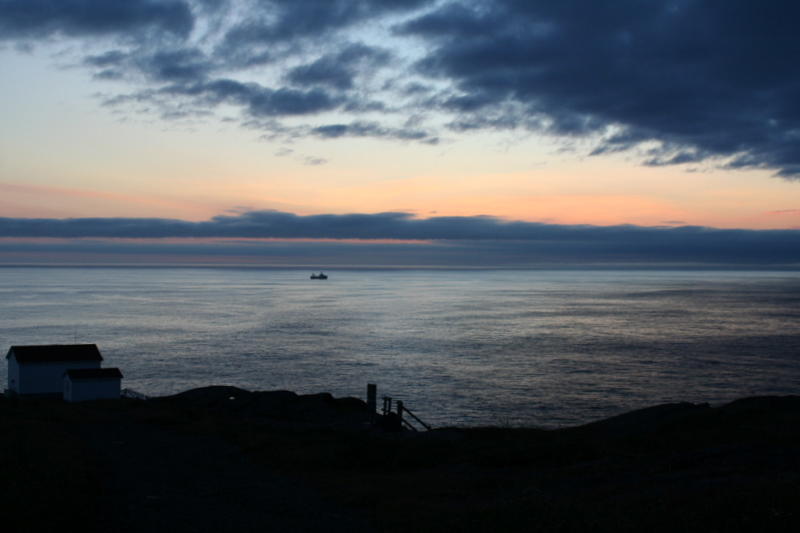 Dawn breaking over Cape Spear, Newfoundland