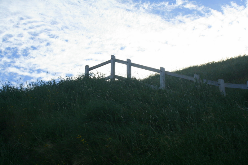 After hiking the many paths and stairs of Signal Hill, this last stretch really felt like walking into the sky...