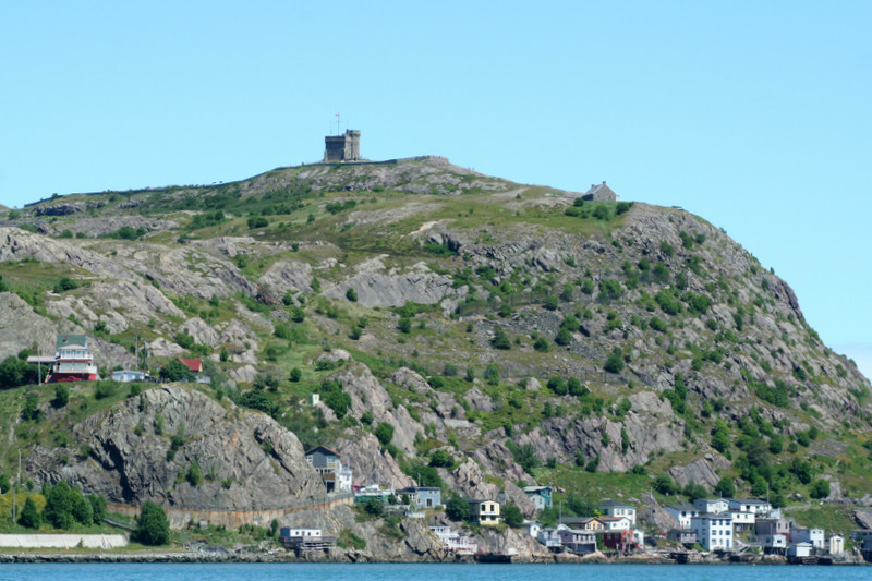 Cabot Tower high atop Signal Hill in St. John's, Newfoundland