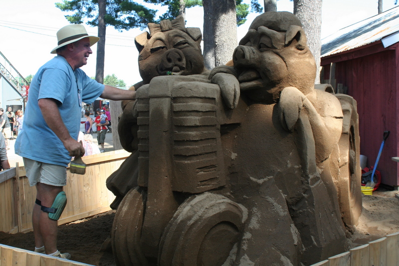 Sand sculpture at the Hopkinton State Fair