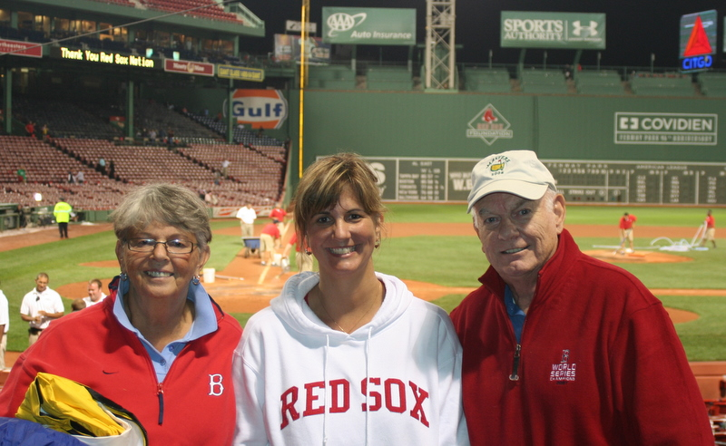 Mom, Dad and I after the Sox's disappointing loss at Fenway last night