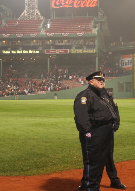 The infamous Sox bullpen cop nice and dry the night before winning the ALDS....