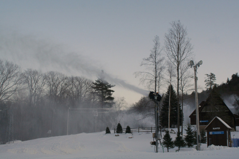 Snowmaking at Pats Peak in anticipation of today's season opening...