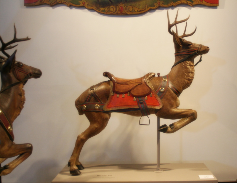 A Gustav Dentzel Carousel piece on display at the Shelburne Museum, Vermont