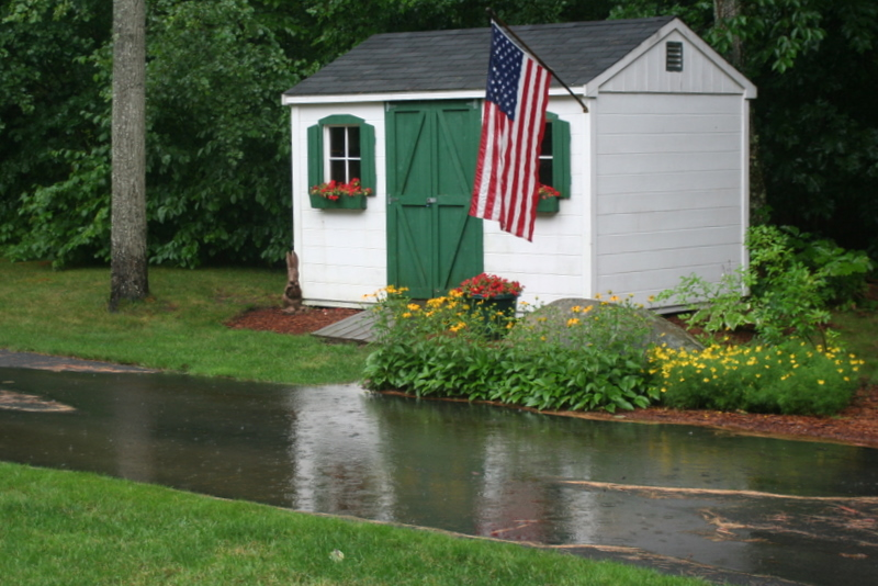 Getting tired of having a pond in my driveway all summer... enough with the downpours!
