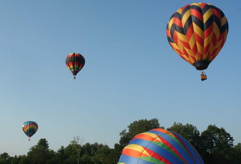 At last night's Hot Air Balloon Rally in Pittsfield, NH