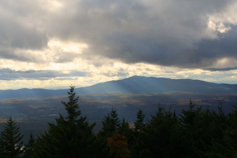 The view of Mt. Monadock from Pack Monadnock Saturday afternoon