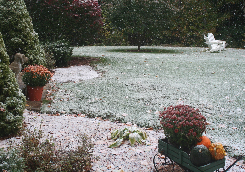 More October snow yesterday...