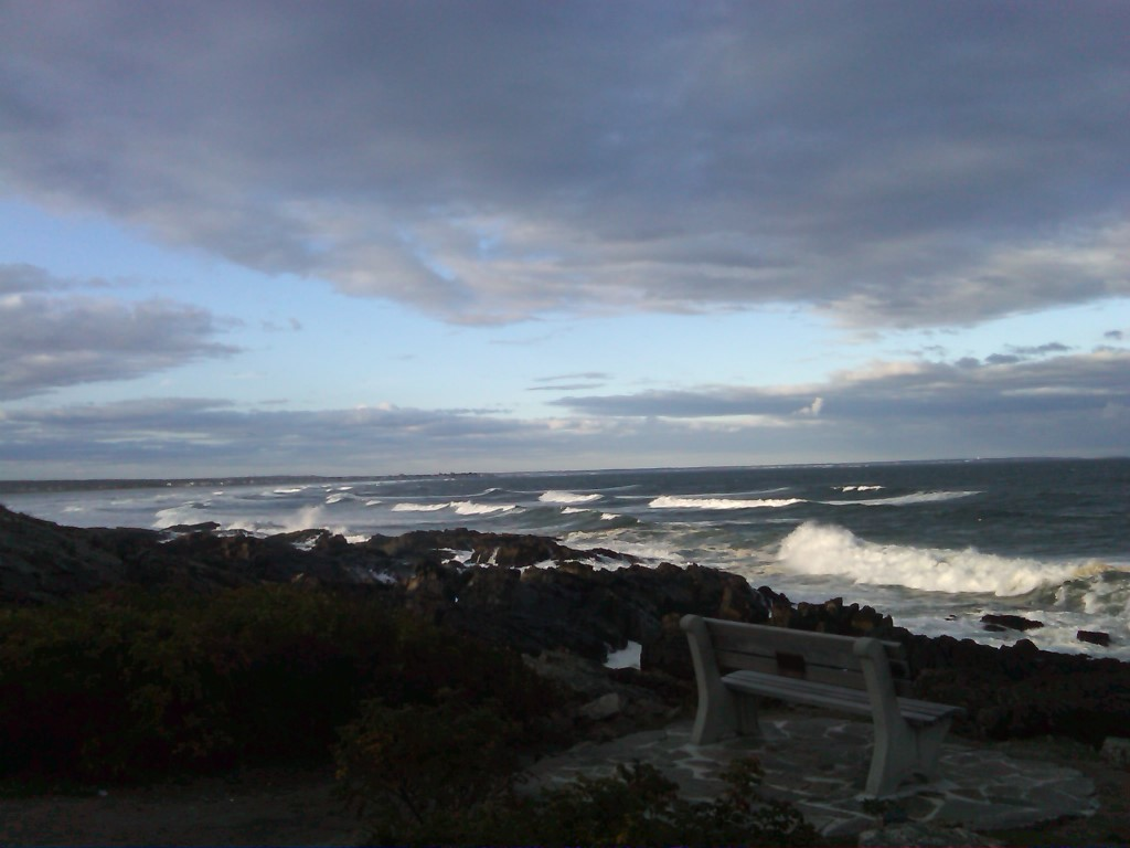 Marginal Way as the clouds darkened...