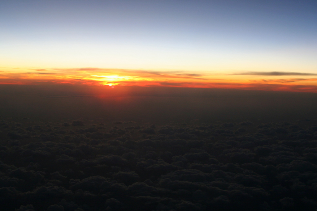 Sunset... view from the plane on my way home