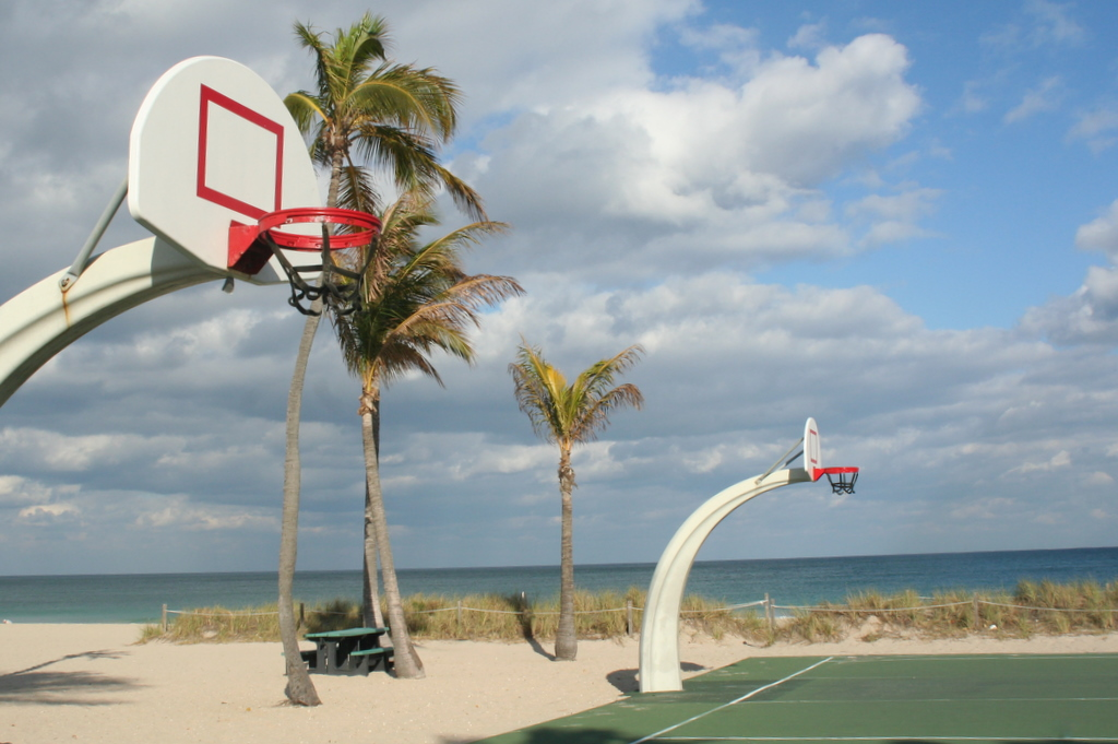 Talk about March Madness... how great  a spot is this for some hoop action?