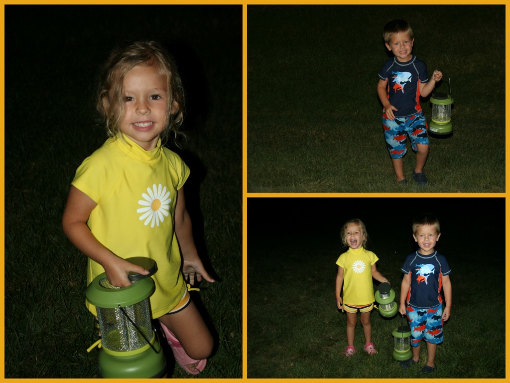 Jack and Emma hunting for fireflies