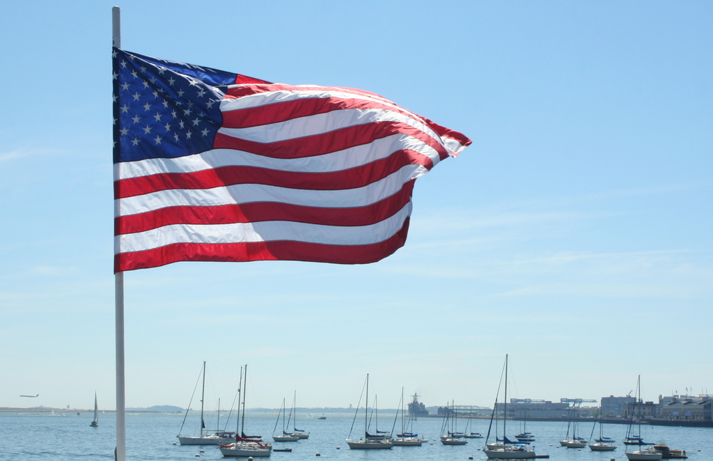 5th of July cruise on Boston Harbor
