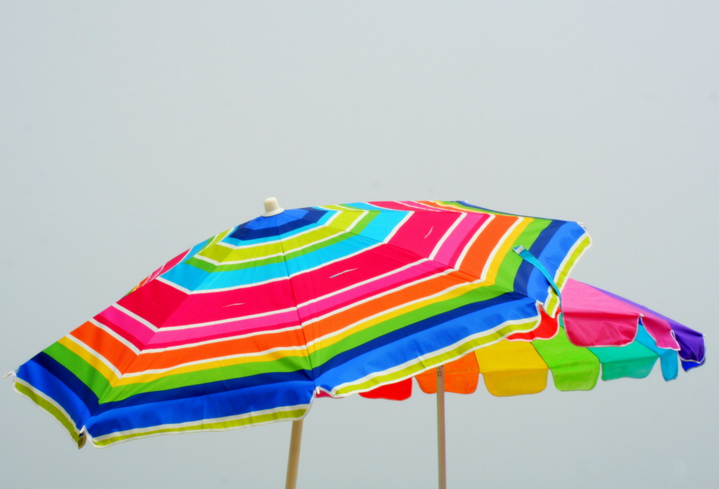 After 4 days of rain, welcome as it is, I'm thinking it's time for beach umbrellas instead...