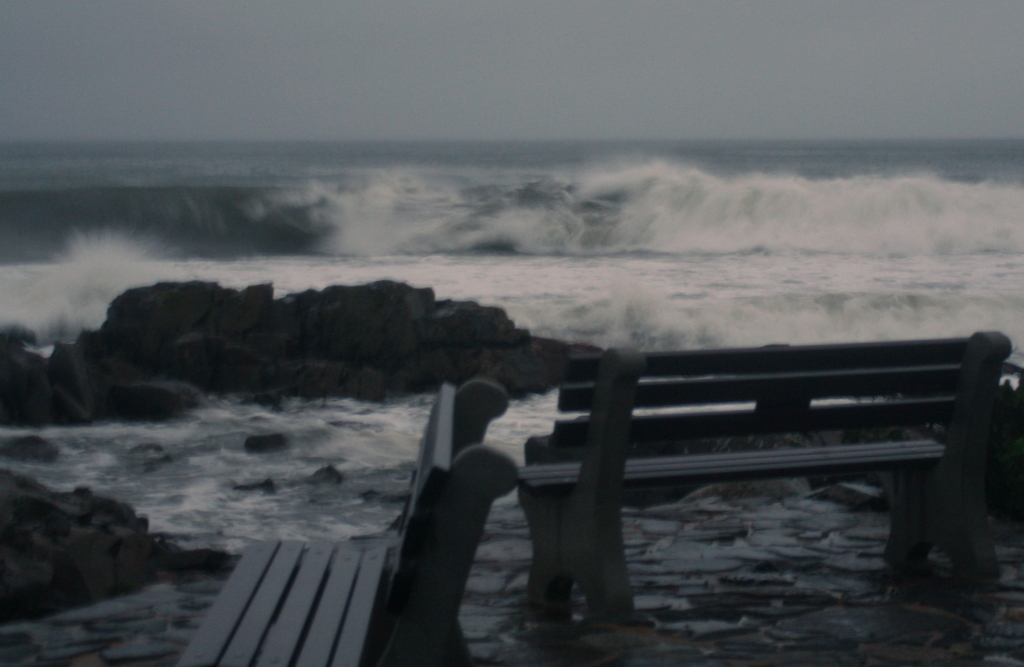 Watching the waves at the Marginal Way, Ogunquit Maine