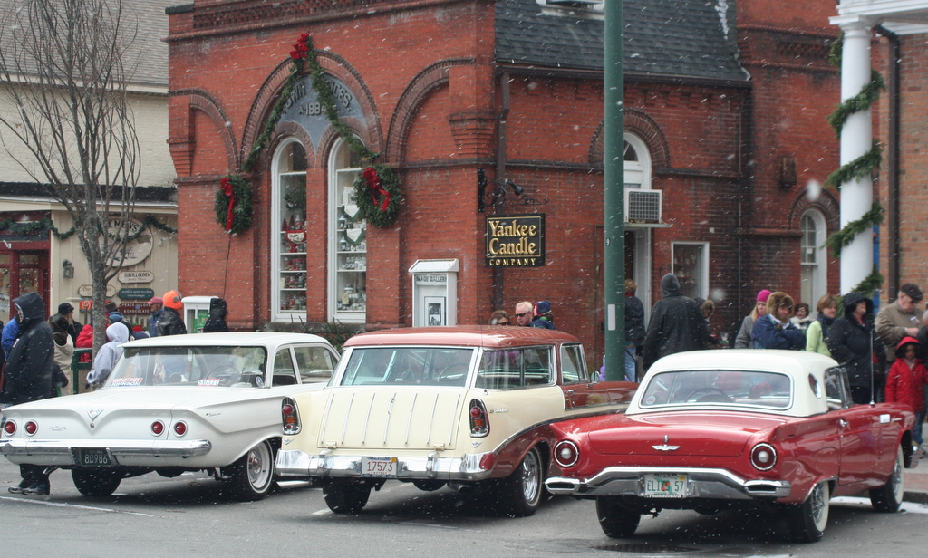Old time cars at Yankee Candle