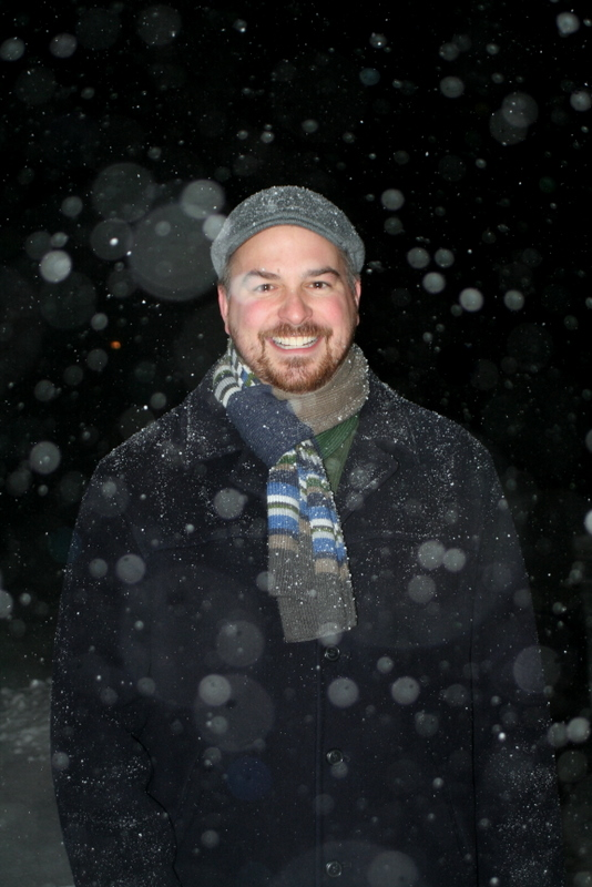 My brother Matt enjoying the New England snow