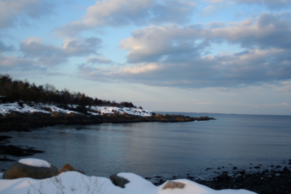 Looking out to the Marginal Way from Perkins Cove