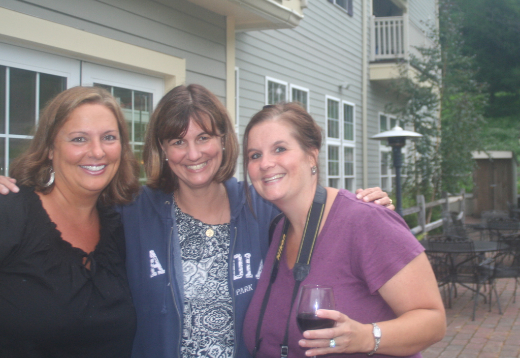 With my cousins Sue and Sarah at our Family Reunion Saturday