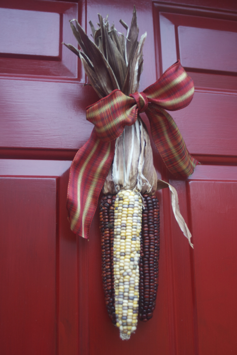 Hard to believe that it's almost time to swap out the corn for the Christmas wreath