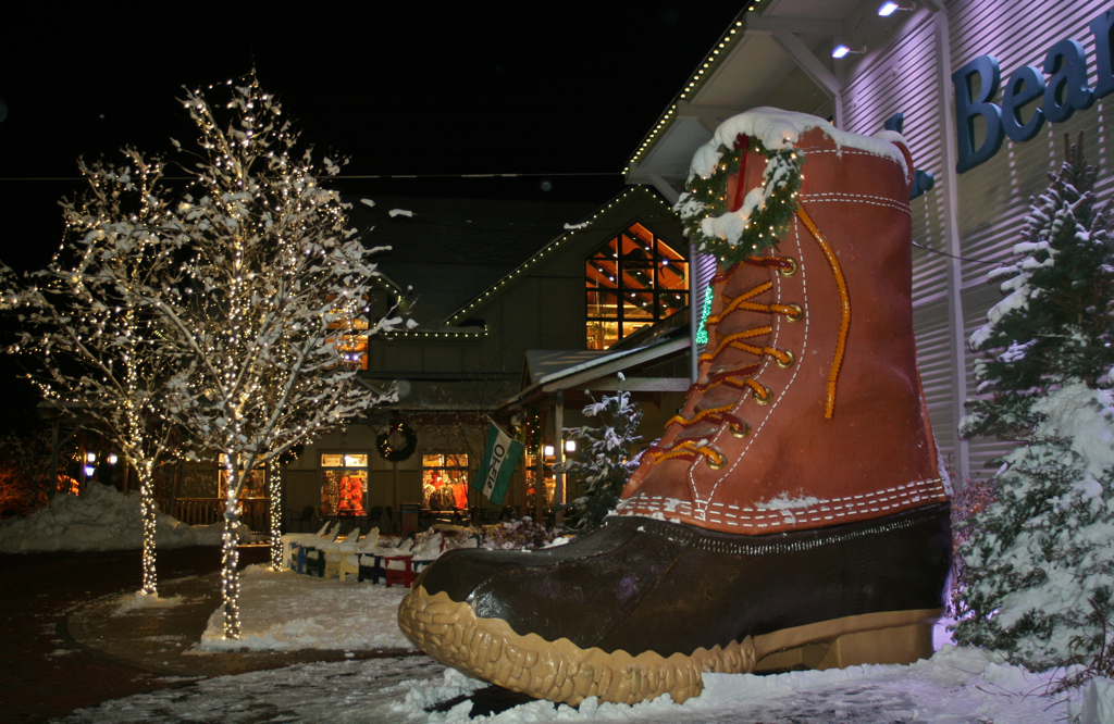 Kicking off the holiday season with a visit to LL Bean on Thanksgiving Eve