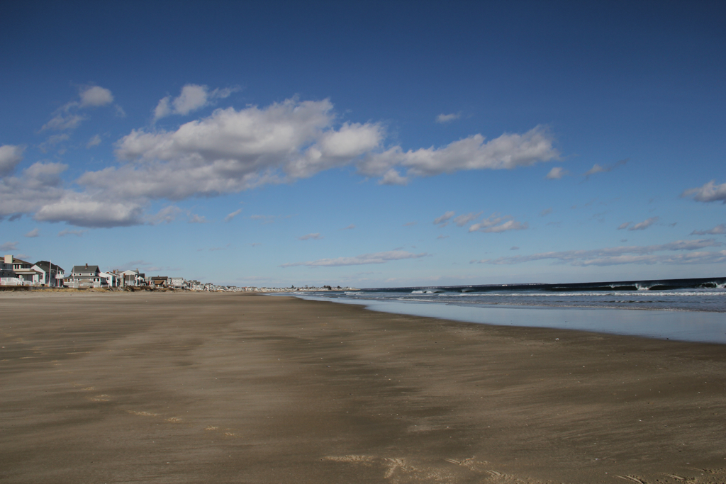 Beautiful blue sky and empty beach :)