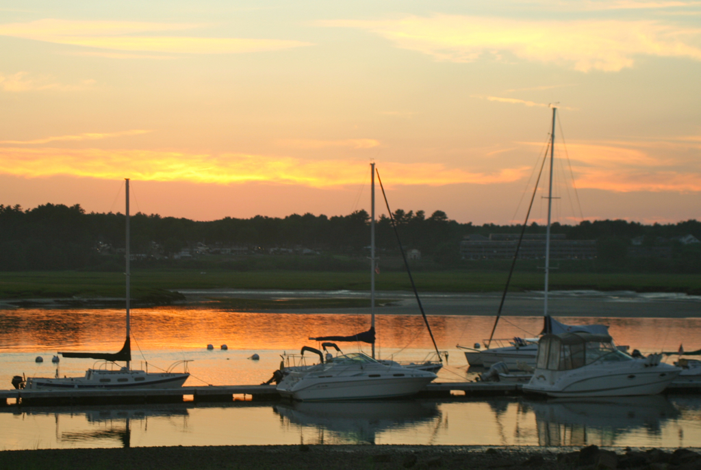 Wells Harbor summer sunset...