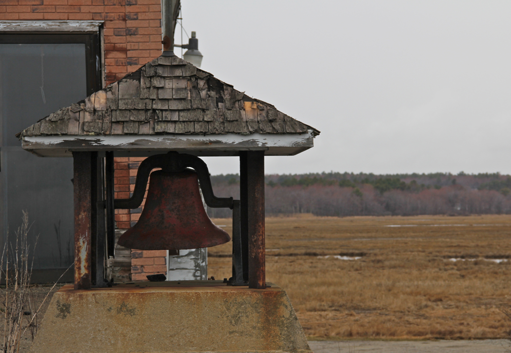 The bell at the old fire station in Wells, Maine