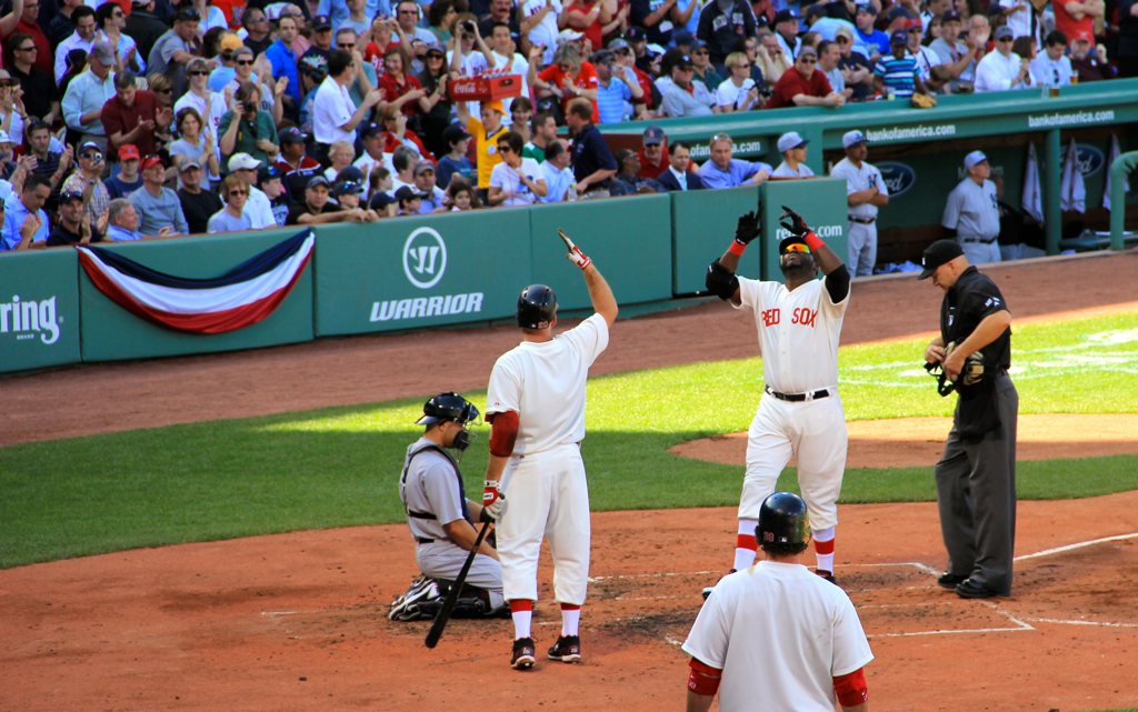 Got to see one of my favorite sights at the game last week - Big Papi crossing home plate after a homer :)