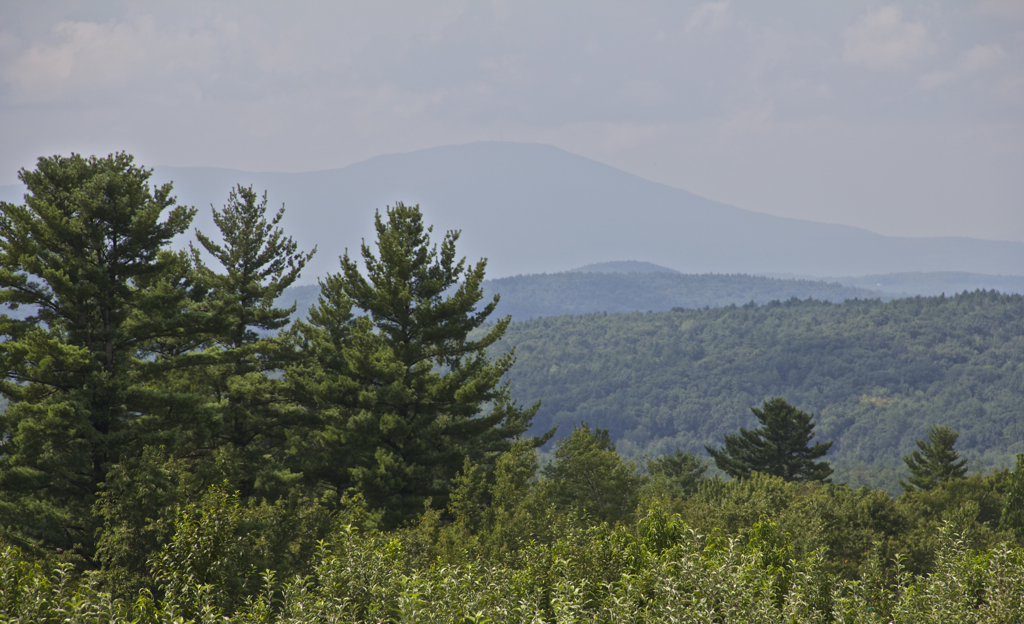 View of Mt. Cardigan from the observatory at Carter Hill Orchards