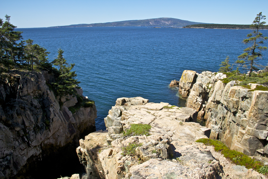Maine's rocky coast and beautiful blue water... Schoodic Penisula, Acadia National Park