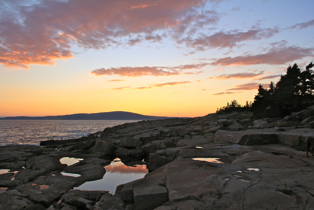Sunset over Schoodic Point