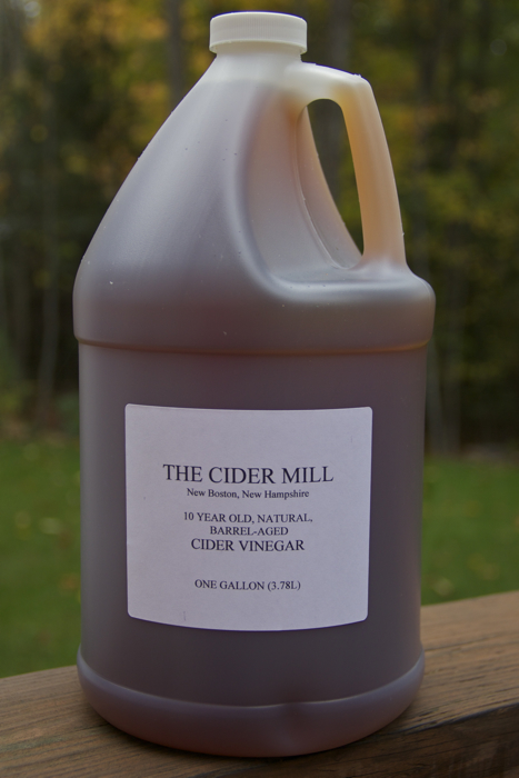 Cider vinegar from the cider press down the street... gotta love country living :)