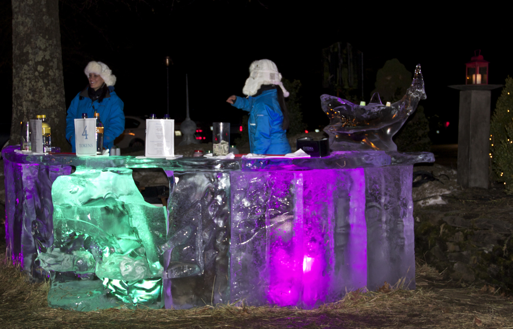 Ice bar at the Bedford Village Inn